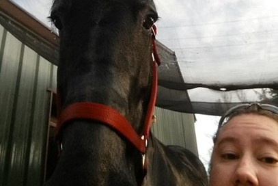 Lea Lindstrom - Crow's of Rose Hill Greta(USA) - October 2017 Class 3 Samberwill Selfie