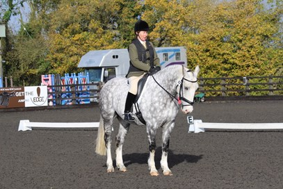 6th Camilla Jarvis - Rosco Gentleman - November 2017 Class 9 Best Horse.